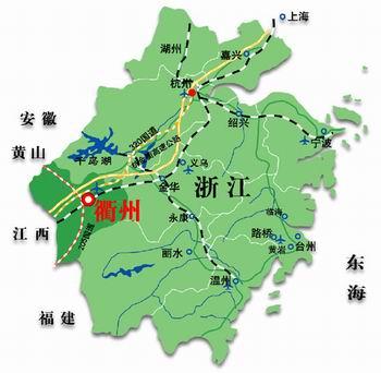 常山旅游手绘地图