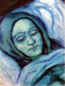 去世的女子头像 毕加索作品赏析 高清图片