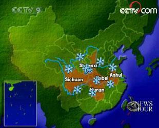 SnowstormsareexpectedtopoundcentralandeastChinathisweekend.(CCTV.com)