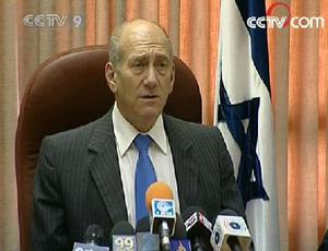 IsraeliPrimeMinisterEhudOlmerthasthreatenedfurtheractionagainstmilitantsintheGazaStrip.(CCTV.com)