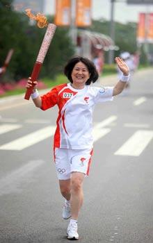The Olympic torch has just finished its journey through the coastal city of Qinhuangdao in north China's Hebei Province.