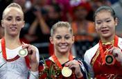 U.S. gymnast Shawn Johnson wins beam title