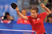Japan´s Fukuhara smiles at loss to defending champion