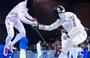 Modern Pentathlon Men´s Fencing Epee one touch match