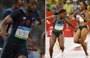 OMG, U.S. drops baton during 4x100m, men & women!