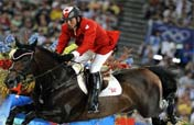 Eric Lamaze of Canada wins equestrian individual jumping gold