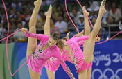 Russia wins rhythmic gymnastics team gold at Beijing Olympic Games