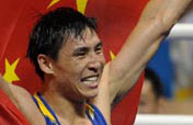 Chinese Zhang Xiaoping wins Olympic light heavy weight (81kg) gold