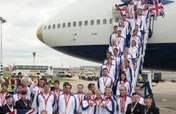 British Olympic team arrive home