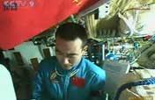 Latest photos: Astronauts on board