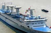 Satellite tracking ships at work