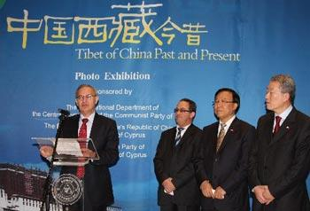 In Cyprus a photo exhibition on Tibet's past and present has opened in the capital of Nicosia.