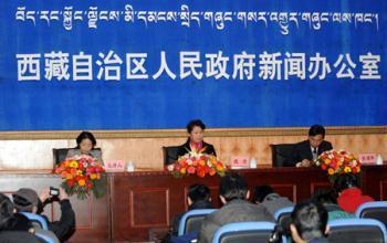 ApressconferenceisheldinLhasa,capitalofsouthwestChina'sTibetAutonomousRegion,March2,2009,forthewhitepapertitled