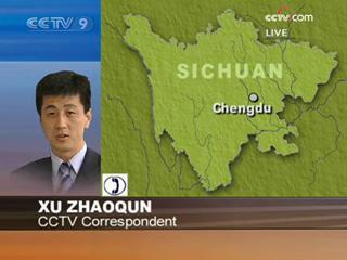 CCTVreporterXuZhaoqunupdatesonA/H1N1flucaseinChengdu.(CCTV.com)