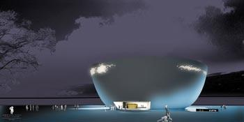 An artist's rendition of the Finland Pavilion