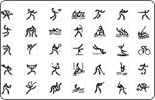 Pictograms of the Beijing 2008 Olympic Games