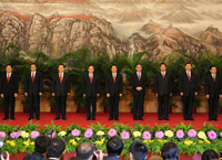<font color=red>Hu Jintao heads Politburo Standing Committee, with four new faces joining in</font>