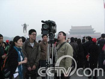 Our cameraman thinks Tiananmen is pretty spectacular in the morning too!