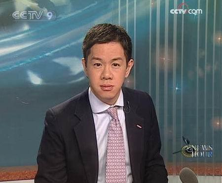 CCTV-9 news anchor James Chau