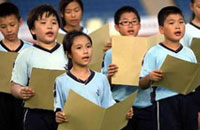 Hong Kong children recite Chinese classical texts