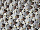 The Military Band of the Chinese People´s Liberation Army plays welcome music
