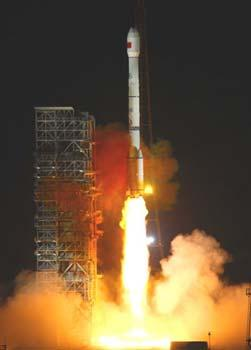 China's Compass-G2 navigation satellite is launched on a Long March-3C carrier rocket at the Xichang Satellite Launch Center in southwest China's Sichuan Province, April 15, 2009. (Xinhua