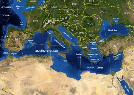 MapofTheMediterraneanSea
