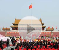 Part 3 - Welcome ceremony at Tian´anmen Square is ready
