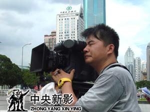 在邓小平广场拍摄