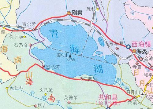青海湖地理位置
