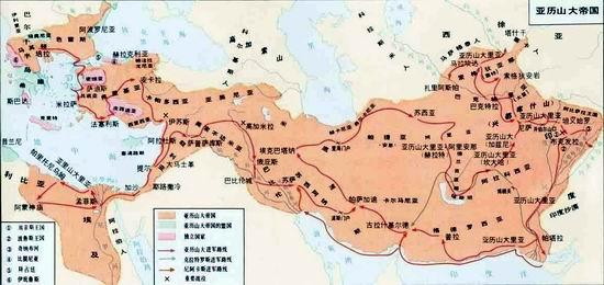 亚历山大庞大的帝国只存在了短短的13年图片