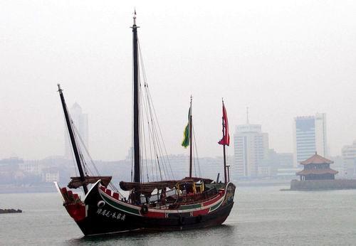 国内最大仿古木帆船将重走郑和下西洋航迹