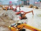 Le travail de drainage à Zhouqu