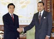 胡锦涛与摩洛哥国王穆罕默德六世举行会谈