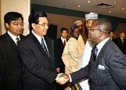 胡锦涛会见中国和尼日利亚企业家代表