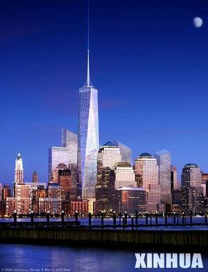 """[组图]纽约公布""""自由塔""""最新方案"""