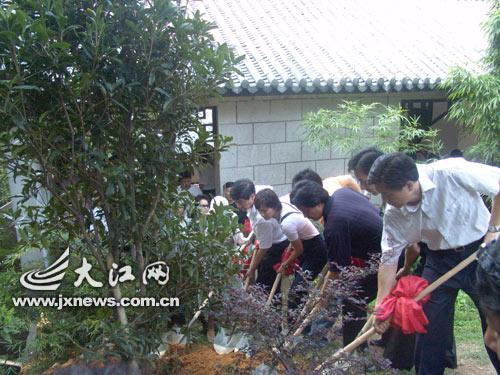 井冈山 剧组缅怀先烈 革命烈士陵园种下三棵树
