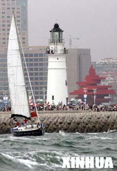 Visitors around the Qingdao Olympic Sailing Center.