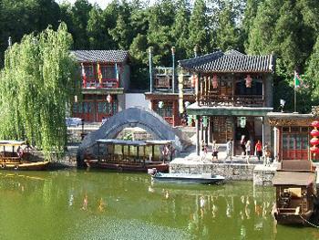 SuzhouStreet-AreconstructedancientvillageintheSummerPalacegrounds.