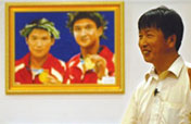 Vegetable vendor paints Olympic champions