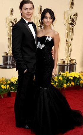 Zac Efron & Vanessa Hudgens, AP Photo/Matt Sayles