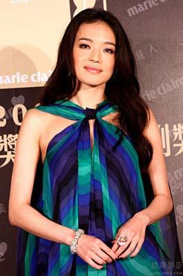 'Taiwan actress Shu Qi attends an activity held by the fashion magazine Marie Claire in Taipei on March 17, 2009. The 32-year-old star was recently voted in an online poll as the