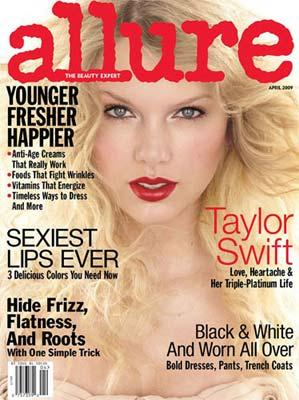 U.S. country star Taylor Swift is the cover girl on the April issue of trendy magazine