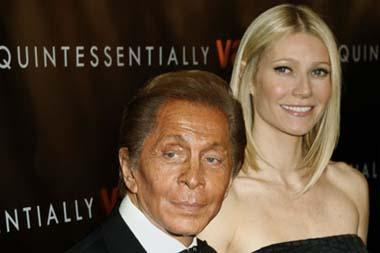 'Designer Valentino Garavani arrives with actress Gwyneth Paltrow at the premiere of the film