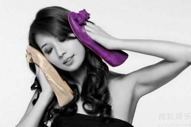 Taiwan model-actress Lin Chiling poses for a shoe brand. [Photo: yule.sohu.com]
