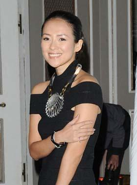 Chinese actress Zhang Ziyi attends the 11th Annual Forces of Nature Benefit held at 583 Park Avenue in New York City, March 30, 2009. [Photo: CFP]