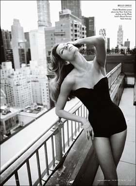 Gisele Bundchen nearly bares all for the cover of Vanity Fair magazine's May 2009 issue. [Photo: gb.cri.cn]