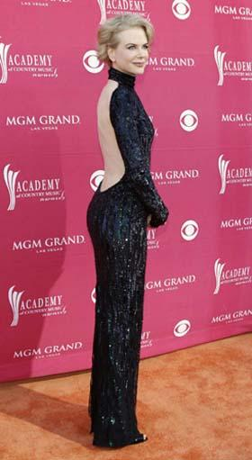 Actress Nicole Kidman arrives at the 44th Annual Academy of Country Music Awards in Las Vegas April 5, 2009. [Photo: Agencies]