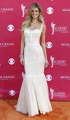 Model Marisa Miller arrives at the 44th Annual Academy of Country Music Awards in Las Vegas April 5, 2009. [Photo: Agencies]