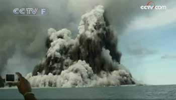 Eruptionvolcaniquesous-marineaulargedesîlesTonga
